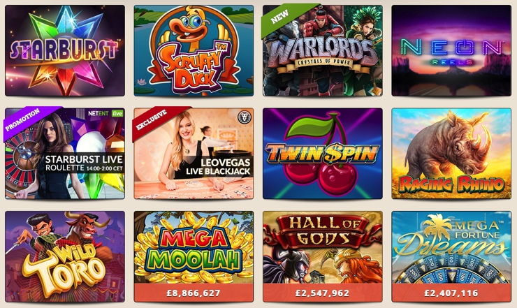 LeoVegas Casino Games
