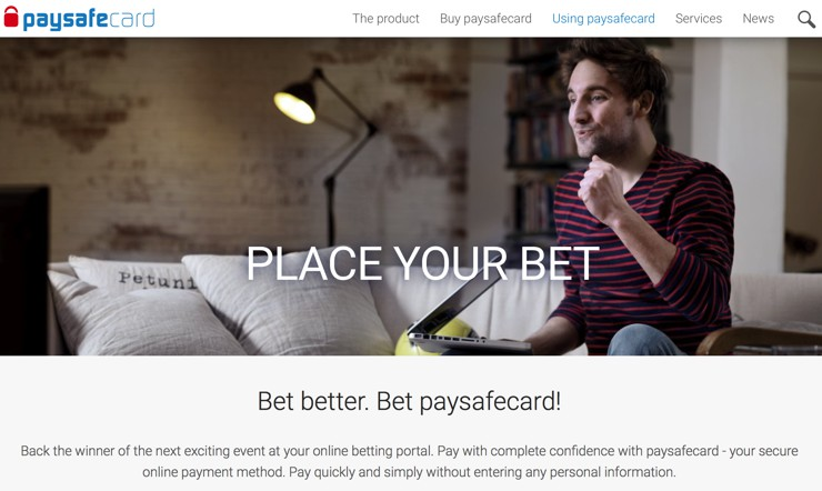 Paysafecard for Betting