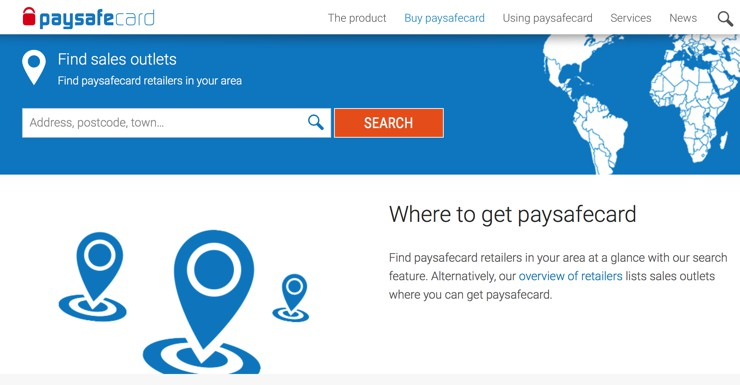 Finding Retailers Who Sell Paysafecard Near You